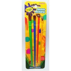 Pincel Crayola Escolares c/4 Pzas