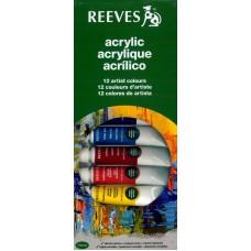 Reeves Acrilico 12 colores