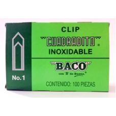 Clip BACO Cuadradito #1 c/100 pzas