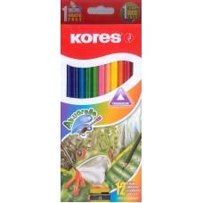Colores Kores Redondos c/12 piezas Acuarela