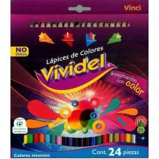 Colores Vividel redondo c/24 piezas