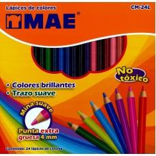 Colores MAE Redondos 24 colores