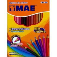 Colores MAE Redondos 36 colores