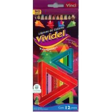 Colores Vividel Triangular c/12 Piezas